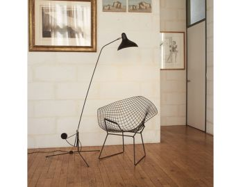 Mantis BS1 Floor Lamp Black Satin by Bernard Schottlander image