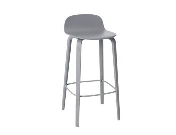 Grey Visu Bar Stool by Mika Tolvanen for Muuto image