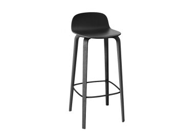 Black Visu Bar Stool by Mika Tolvanen for Muuto image