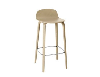 Oak Visu Bar Stool by Mika Tolvanen for Muuto image