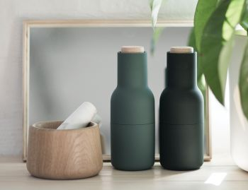 Bottle Grinder Set Dark Green by Norm Architects for Menu image