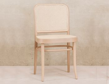 811 Natural Bentwood Dining Chair with Cane Seat and Cane Backrest by Josef Hoffmann for TON image