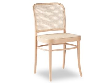 811 Hoffmann Natural Dining Chair with Cane Seat and Cane Backrest by TON image