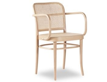 811 Hoffmann Natural Armchair with Cane Seat and Cane Backrest by TON image