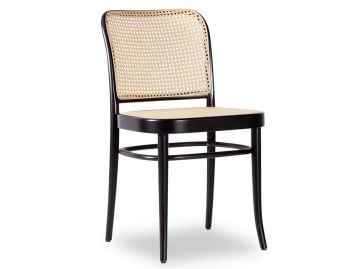 811 Hoffmann Black Stain Dining Chair with Cane Seat and Cane Backrest by TON image