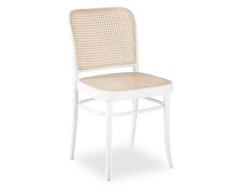 811 Hoffmann White Dining Chair with Cane Seat and Cane Backrest by TON image