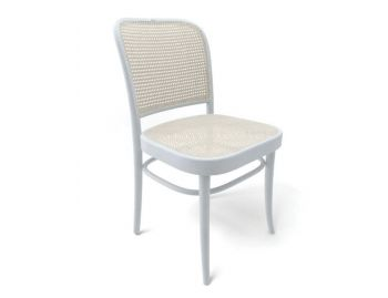 811 Bentwood Dining Chair in White by Josef Hoffmann for TON CZ  image