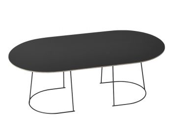 Airy Black Coffee Table Large by Cecilie Manz for Muuto image
