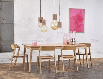 Natural Jutland A Grade Solid European Oak Extendable 160cm to 220cm Dining Table by Mads Johansen for TON image