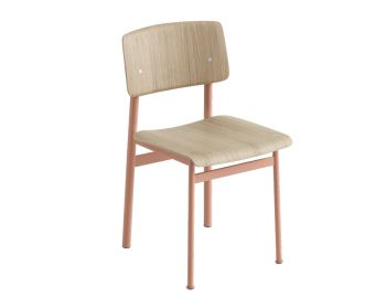 Loft Chair Dusty Rose/Oak by Thomas Bentzen for Muuto image