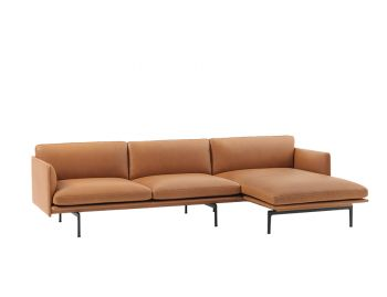 Outline Leather Chaise Sofa by Anderssen & Voll Muuto image