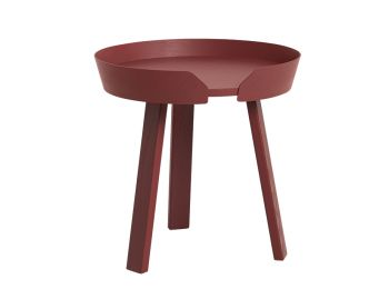 Dark Red Around Coffee Table Small by Thomas Bentzen for Muuto image