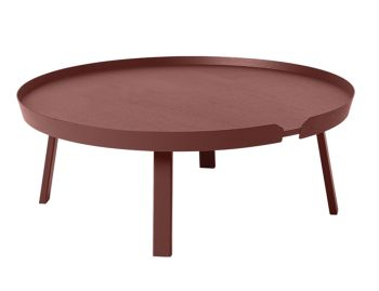 Dark Red Around Coffee Table XL by Thomas Bentzen for Muuto image