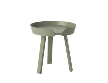 Dusty Green Around Coffee Table Small by Thomas Bentzen for Muuto image
