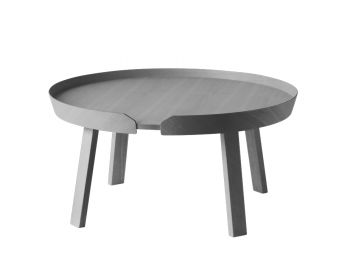 Dark Grey Around Coffee Table Large by Bentzen for Muuto image