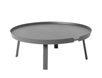 Dark Grey Around Coffee Table XL by Bentzen for Muuto image