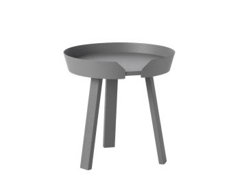 Dark Grey Around Coffee Table Small by Thomas Bentzen for Muuto image