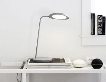 Leaf Table Lamp Grey by Broberg & Ridderstrale for Muuto image