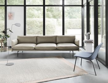 Outline 3.5 Seat Leather Sofa by Anderssen & Voll Muuto image
