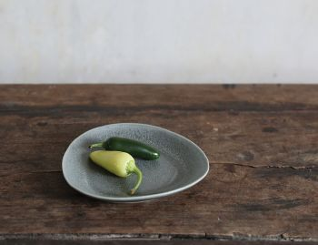 Stoneware Slate Grey Small Plate 33 (2 pieces) by Rebecca Uth for Ro image