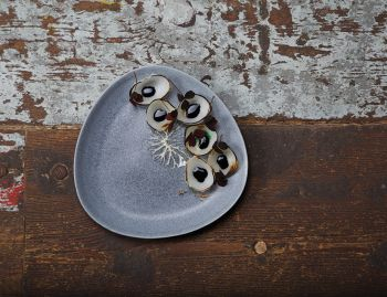 Stoneware Slate Grey Large Plate 35 (2 pieces) by Rebecca Uth for Ro image