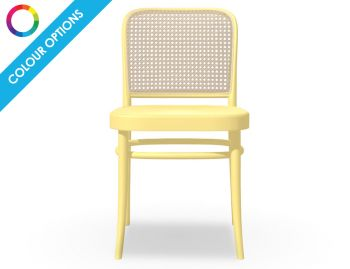 811 Hoffmann Custom Colour Dining Chair with Wooden Seat and Cane Backrest by TON  image