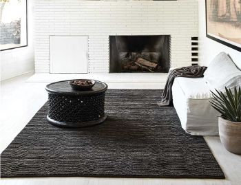 Savannah Carbon Berber Knot Rug by Armadillo  image