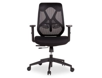 Trieste Ergonomic Office Chair - Black Frame - Mesh - Padded Seat image