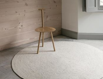 Braid Weave Chalk Round Rug by Armadillo image