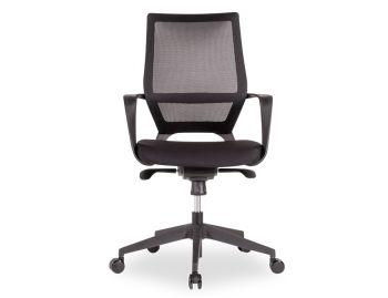 Mokum Office Chair - Black - Upholstered Black Padded Seat image