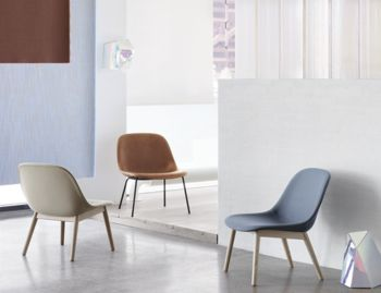 Fiber Lounge Chair with Wood Base by Iskos Berlin Muuto image