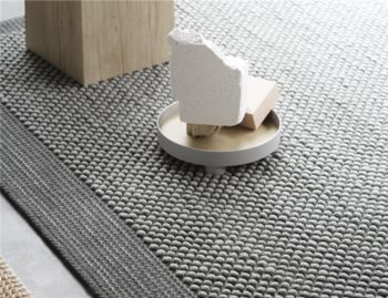 Pebble Rug Dark Grey by Margrethe Odgaard for Muuto image