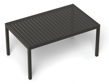 Halki Outdoor Dining Table 160cm x 90cm Matt Charcoal Aluminum by Bent Design image