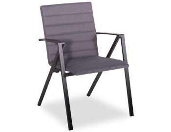 Naxos Outdoor Padded Arm Chair Aluminium Charcoal by Bent Design Studio image