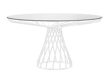 Velletri White 150cm HPL Board Indoor Outdoor Dining Table by Glid Studio for Huset image