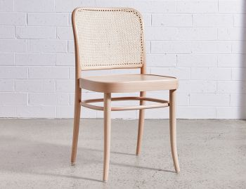811 Natural Hoffmann Dining Chair with Wooden Seat and Cane Backrest by for TON image