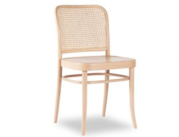 811 Hoffmann Natural Dining Chair with Wooden Seat and Cane Backrest by TON image