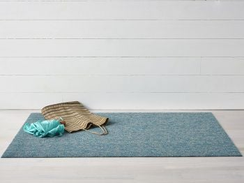 Shag Heathered Aqua In/Outdoor Floor Mat by Chilewich image