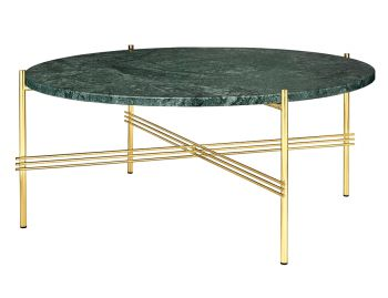 TS Coffee Table Large Round 80cm Dia with Brass Base by GUBI image