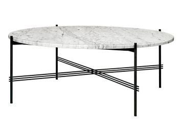 TS Coffee Table Extra Large Round 105cm Dia with Black Base GUBI image