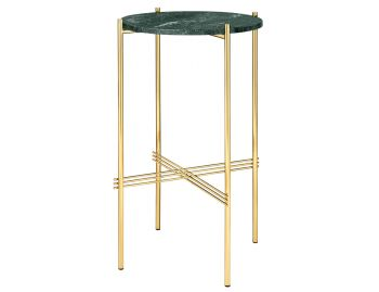 TS Console Table Small Round 40cm Dia with Brass Base GUBI image