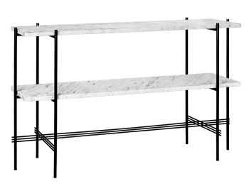 TS Console Table 2 Racks 120cm with Black Base GUBI image