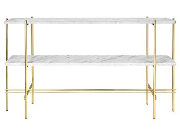 TS Console Table 2 Racks 120cm with Brass Base GUBI image