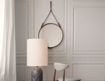 Adnet Wall Mirror Medium by Jacques Adnet for GUBI image