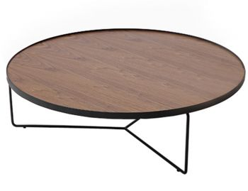 Alora Large Coffee Table American Walnut w Black Legs by Bent Design image