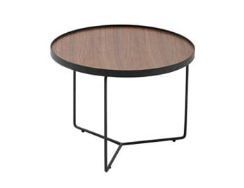 Alora Medium Coffee Table American Walnut with Black Legs by Bent Design image