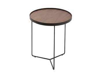 Alora Side Table American Walnut with Black Legs by Bent Design image