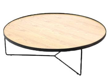 Alora Large Coffee Table European Oak with Black Legs by Bent Design image