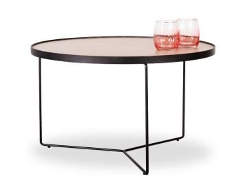 Alora Medium Coffee Table European Oak with Black Legs by Bent Design image