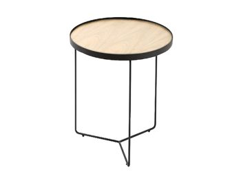 Alora Side Table European Oak with Black Legs by Bent Design image